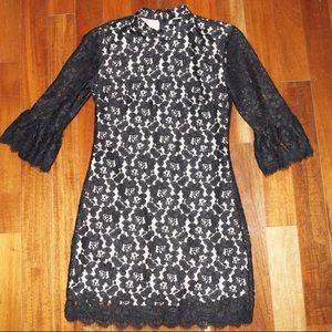 Lace cocktail dress.